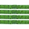 Miyuki Tila Beads 5X5mm 2 Hole Green with Turquoise Picasso Transparent